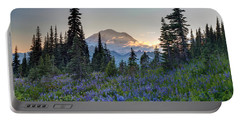 Mount Rainer Flower Fields Portable Battery Charger