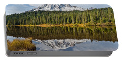 Portable Battery Charger featuring the photograph Mount Rainier And Reflection Lakes In The Fall by Jeff Goulden