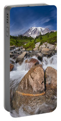 Mount Rainier Glacial Flow Portable Battery Charger