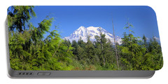 Portable Battery Charger featuring the photograph Mount Rainier by Gordon Elwell