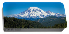 Mount Rainier Portable Battery Charger by John M Bailey