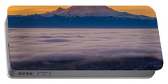 Mount Rainier Sunrise Mood Portable Battery Charger