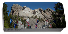 Mount Rushmore Avenue Of Flags Portable Battery Charger