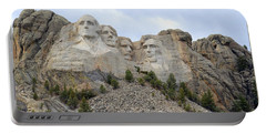 Mount Rushmore In South Dakota Portable Battery Charger by Clarice  Lakota
