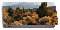 Mount Shasta In The Fall  Portable Battery Charger
