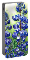 Mountain Blues Lupine Study Portable Battery Charger by Barbara Jewell