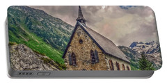 Mountain Chapel Portable Battery Charger by Hanny Heim