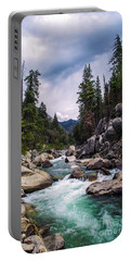 Mountain Emerald River Photography Print Portable Battery Charger