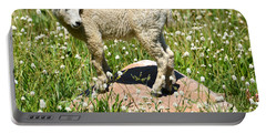 Mountain Goat Kid Among Wildflowers Portable Battery Charger
