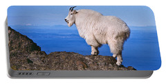 Portable Battery Charger featuring the photograph Mountain Goat On Klahane Ridge by Jeff Goulden