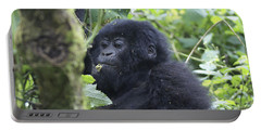 Mountain Gorillas Portable Battery Charger by Ruth Hofshi