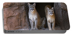 Portable Battery Charger featuring the photograph Mountain Lion 2 by Arterra Picture Library