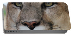 Mountain Lion Portrait 2 Portable Battery Charger