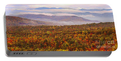 Mountain Mornin' In Autumn Portable Battery Charger by Lydia Holly