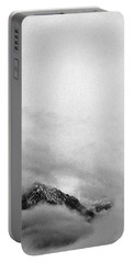 Mountain Peak In Clouds Portable Battery Charger by Peter v Quenter
