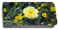 Mountain Rose Portable Battery Charger by Janice Westerberg