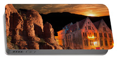 Mountain Sunset Portable Battery Charger by Fred Larson