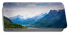 Mountains Along Seward Highway Portable Battery Charger by Andrew Matwijec