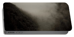 Mountains And Mist Portable Battery Charger by Shane Holsclaw
