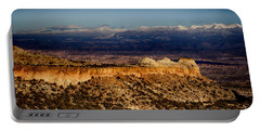 Mountains At Senator Clinton P. Anderson Scenic Route Overlook  Portable Battery Charger by Douglas Barnard