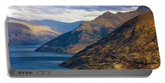 Mountains Meet Lake Portable Battery Charger by Stuart Litoff