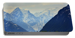 Mountains Near Matanuska Glacier Portable Battery Charger by Andrew Matwijec