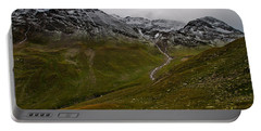 Mountainscape With Snow Portable Battery Charger