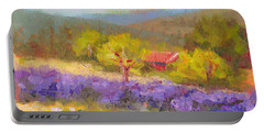 Mountainside Lavender   Portable Battery Charger