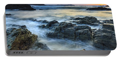 Portable Battery Charger featuring the photograph Mourillar Beach Galicia Spain by Pablo Avanzini
