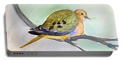 Portable Battery Charger featuring the painting Mourning Dove by Katherine Miller