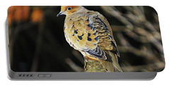 Mourning Dove On Post Portable Battery Charger by MTBobbins Photography