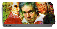 Portable Battery Charger featuring the photograph Mozart Beethoven Bach 20140128 by Wingsdomain Art and Photography