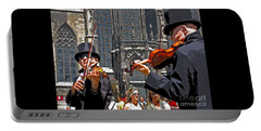 Portable Battery Charger featuring the photograph Mozart In Masquerade by Ann Horn