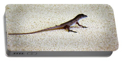 Portable Battery Charger featuring the photograph Mr. Gecko by Pennie  McCracken