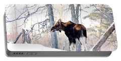 Mr. Moose Portable Battery Charger by Cheryl Baxter