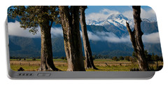 Mt Cook Through Trees Portable Battery Charger