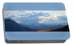 Portable Battery Charger featuring the photograph Mt. Denali by Ann Lauwers