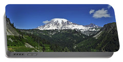 Mt Rainier Between The Valley Portable Battery Charger