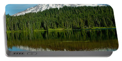 Portable Battery Charger featuring the photograph Mt. Rainier II by Tikvah's Hope
