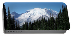 Portable Battery Charger featuring the photograph Mt. Rainier In August by Chalet Roome-Rigdon