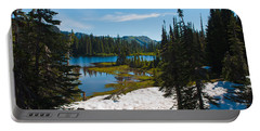 Portable Battery Charger featuring the photograph Mt. Rainier Wilderness by Tikvah's Hope