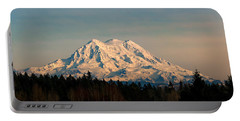 Mt Rainier Winter Panorama Portable Battery Charger