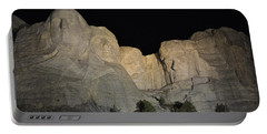 Mt. Rushmore At Night Portable Battery Charger