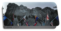Mt. Rushmore In The Evening Portable Battery Charger