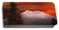 Mt Shasta Fire In The Sky Portable Battery Charger