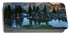 Mt. Timpanogos At Sunrise From Silver Glance Lake Portable Battery Charger