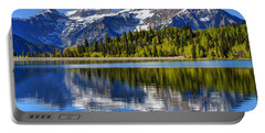Mt. Timpanogos Reflected In Silver Flat Reservoir - Utah Portable Battery Charger