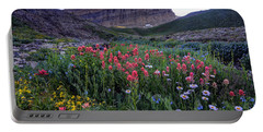 Mt. Timpanogos Wildflowers At Sunset Portable Battery Charger