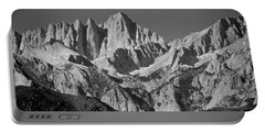 Mt. Whitney In Black And White Portable Battery Charger