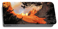 Portable Battery Charger featuring the photograph Mt. Whitney Sunrise by Alan Socolik